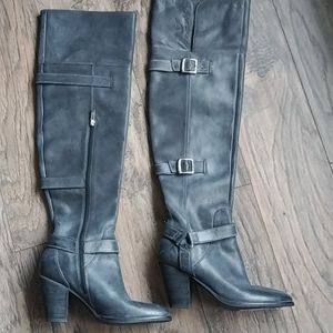 Enzo Angiolini over the knee genuine leather boots